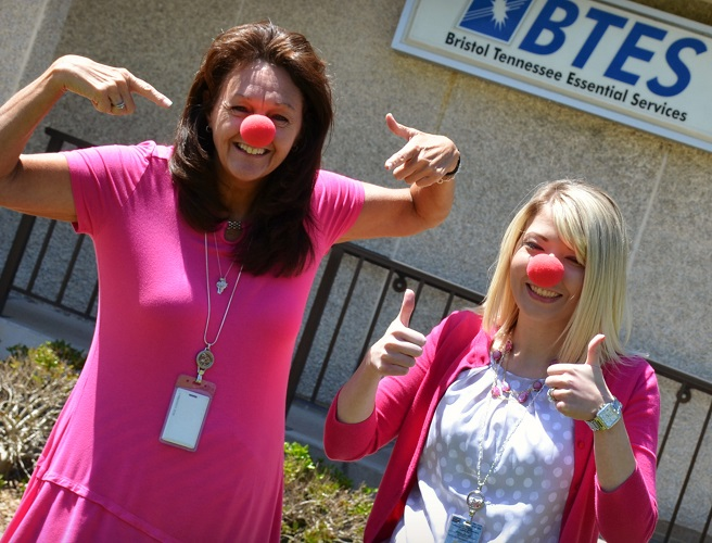 BTES employees on red nose day
