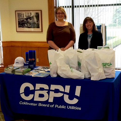 women at Coldwater Board of Public Utilities table