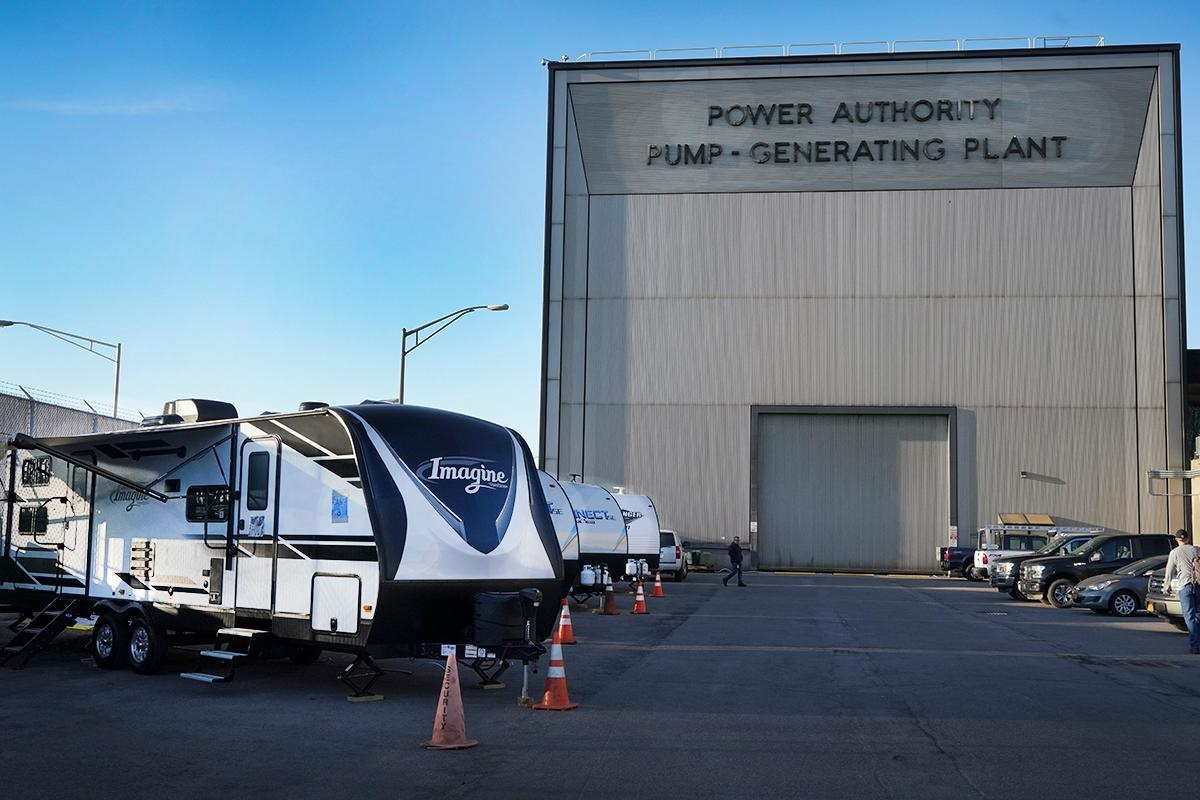 Trailers for sequestered New York Power Authoritry workers