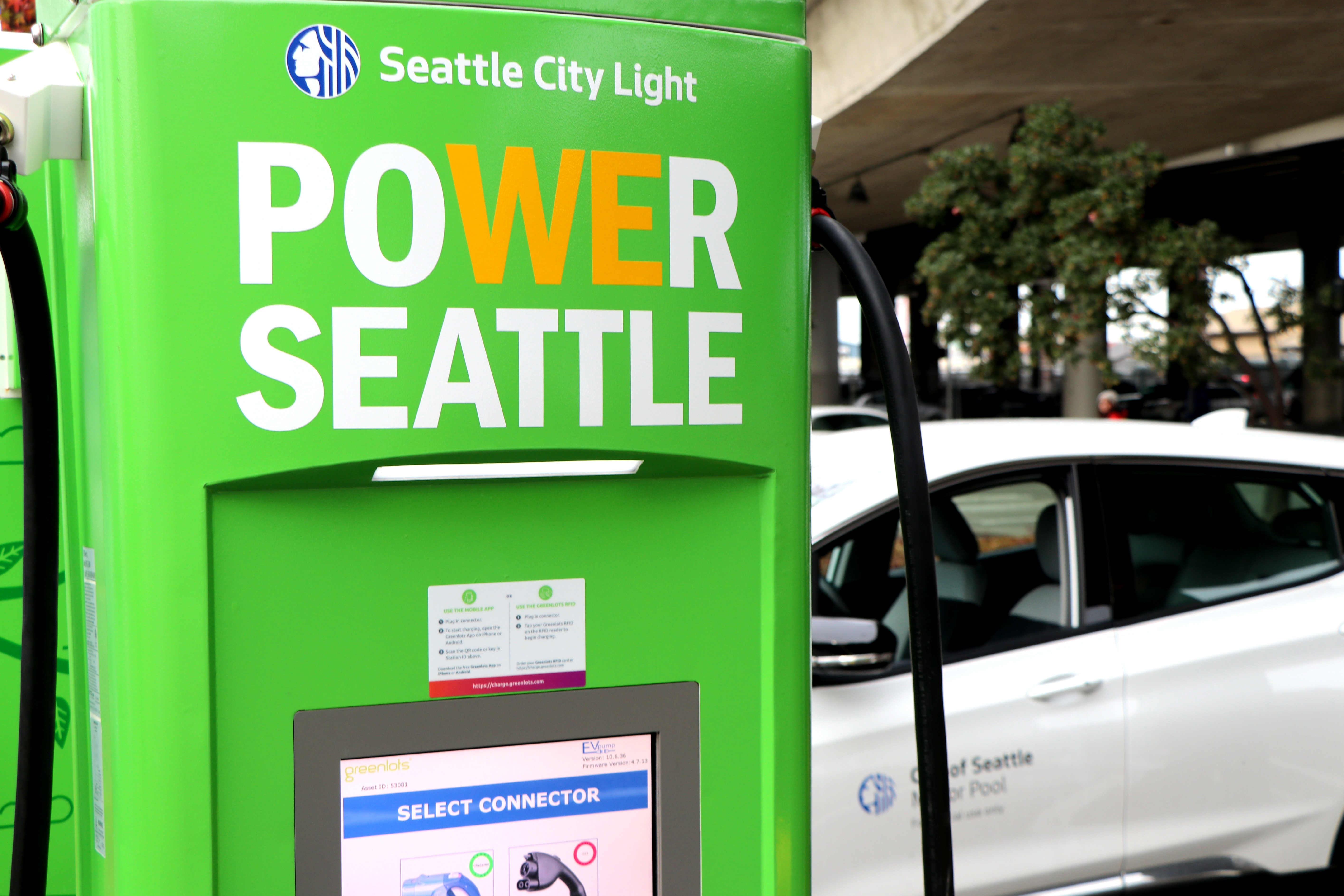 Seattle City Light public charging station
