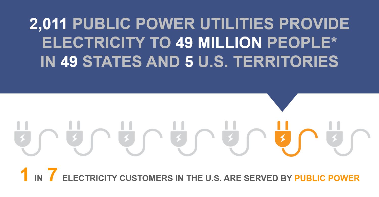 One in sevent electricity customers is served by public power