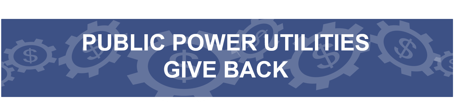 public power utilities give back to their communities