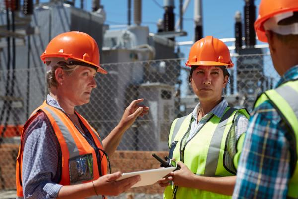engineers at substation