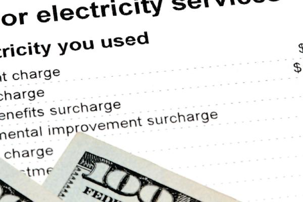 money on an electric bill