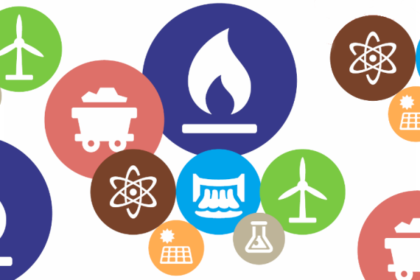 icons representing types of electric generation