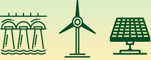 icons of renewable generation resources