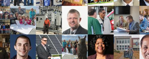 photo grid of 2019 public power award winners