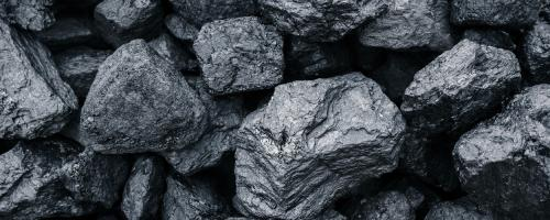 Detail of pieces of coal