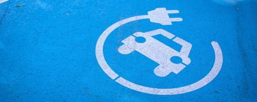 ev icon on parking space